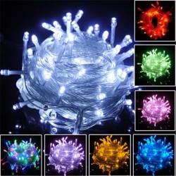 Instalatie Pom Craciun 500 LED-uri Diverse Culori Fir Transparent