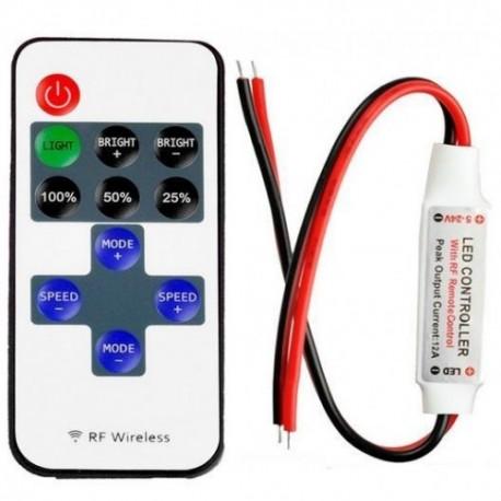 Mini Dimmer Banda LED 12A 144W RF