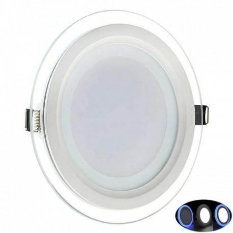 Spot LED 10W Rotund Contur Albastru