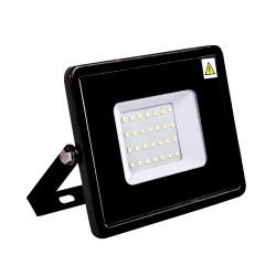 Proiector LED 10W 220V Slim Negru SMD