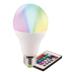 Bec LED E27 5W Glob Mat RGB Telecomanda Dimabil