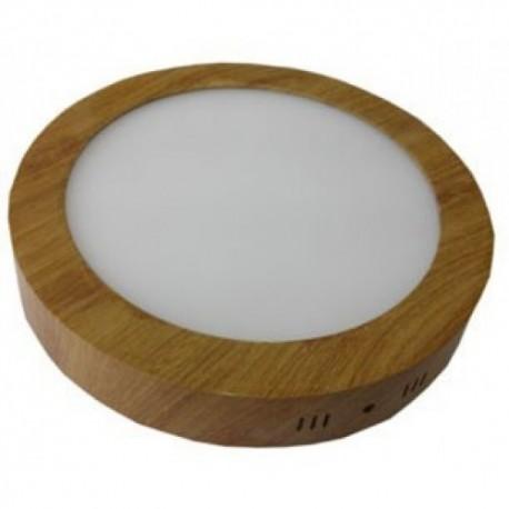 Spot LED 6W Rotund Aplicat Teak