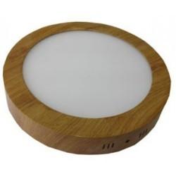 Spot LED 18W Rotund Aplicat Teak