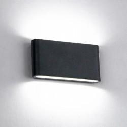 Aplica LED 2x6W Negru Exterior