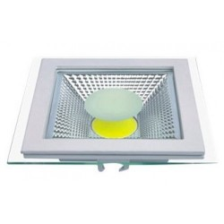 Spot LED 10W Patrat COB Sticla