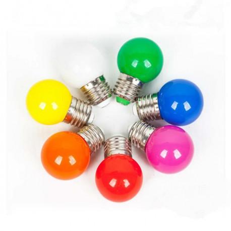 BEC LED E27 1W Diverse Culori