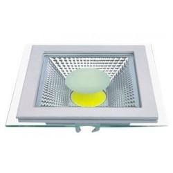 Spot LED 15W Patrat COB Sticla