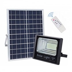 Proiector LED 100W cu Panou Solar si Telecomanda
