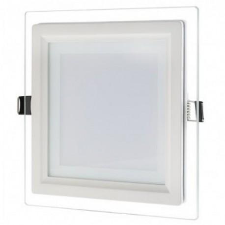 Spot LED 6W Patrat Mat Sticla