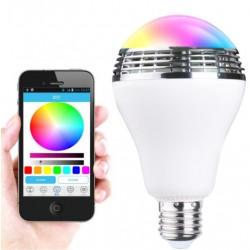 Bec LED E27 cu Bluetooth si Boxa Incorporata