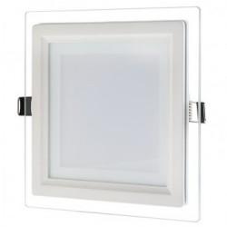 Spot LED 12W Patrat Mat Sticla