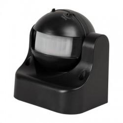 Senzor de Miscare Reglabil Negru 180°