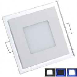 Spot LED 15W Patrat Contur Albastru