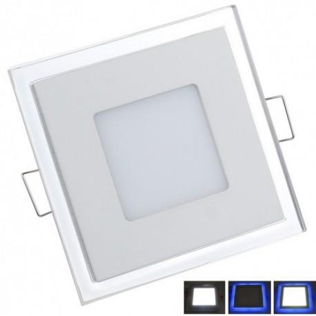 Spot LED 10W Patrat Contur Albastru