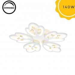 Lustra LED 140W Butterfly Crystal cu Telecomanda 3 Functii