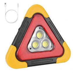 Lanterna multifunctionala HB-7709, forma de triunghi cu 3 LED-uri
