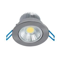 Spot LED 7W Rotund Mobil Satin Nichel