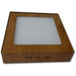 Spot LED 18W Patrat Aplicat Teak