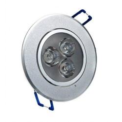 Spot LED 3x1W Rotund Mobil Argintiu