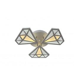 Lustra LED 102W Diamond 3 Elemente cu Telecomanda