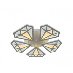Lustra LED 170W Diamond 5 Elemente cu Telecomanda