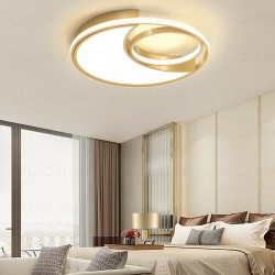 Lustra LED 130W Circle Round GOLD 3 Functii