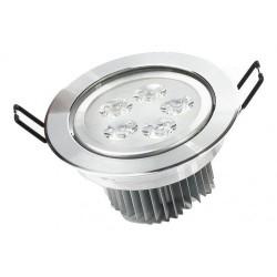 Spot LED 5x1W Rotund Mobil Argintiu