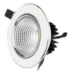 Spot LED 3W Rotund Mobil Alb-Argintiu