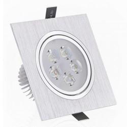 Spot LED 5x1W Patrat Mobil Argintiu