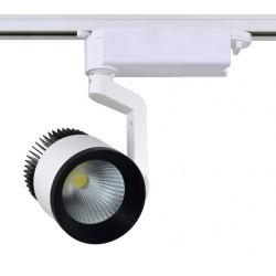 Spot LED Magazin 20W Alb cu Negru