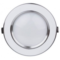 Spot LED 7W Rotund Mat Argintiu